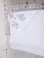 Крестильная пеленка, белая, фото 1