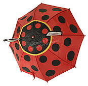 Яркий детский механический зонтик зверушка mr. FROGS art. 4304 божья коровка  (100144)
