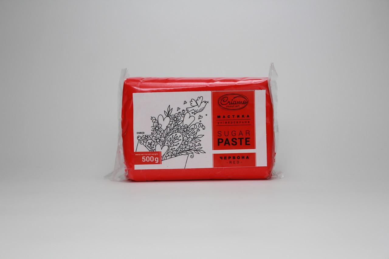 Сахарная мастика «Criamo» красная для обтяжки 0,5 кг Украина - 05381