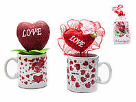 Сувенир Сердце в чашке (75 мл) 2 вида