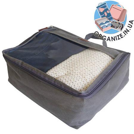 Средняя дорожная сумка для вещей ORGANIZE (серый)