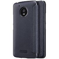 Кожаный чехол-книжка Nillkin Sparkle для Motorola Moto G5 черный