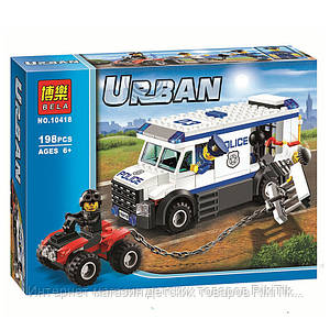 Конструктор Bela серия Urban №10418 Перевозчик заключённого (аналог Lego City 60043)