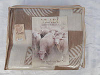 Одеяло жаккардовое с китайскими узорами и лепестками шерстяное 170х210
