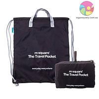 Портативная водонепроницаемая сумка-рюкзак (черный)