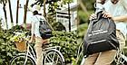 Портативна водонепроникна сумка-рюкзак (чорний), фото 2