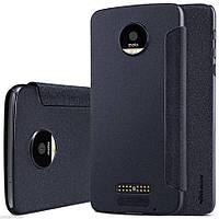 Кожаный чехол-книжка Nillkin Sparkle для Motorola Moto Z (XT1650) черный