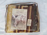 Одеяло темное жаккардовое шерстяное 200х220