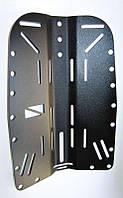 Спинка BS Diver аллюминиевая с прорезями (чёрное анодирование)