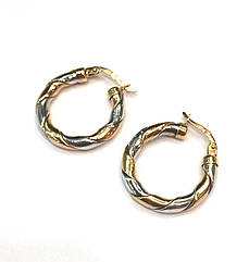 Золотые серьги кольца 23 мм