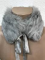 Воротник меховой натуральный песец серый жемчуг