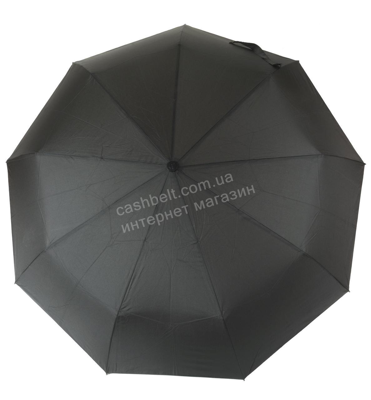 Мужской прочный зонт автомат классический черный цвет art. 336 черный (100184)