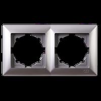 Visage серебро Рамка двойная горизонтальная
