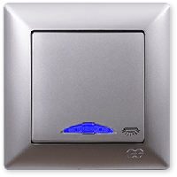 Visage серебро Кнопка контроля освещения с подсветкой