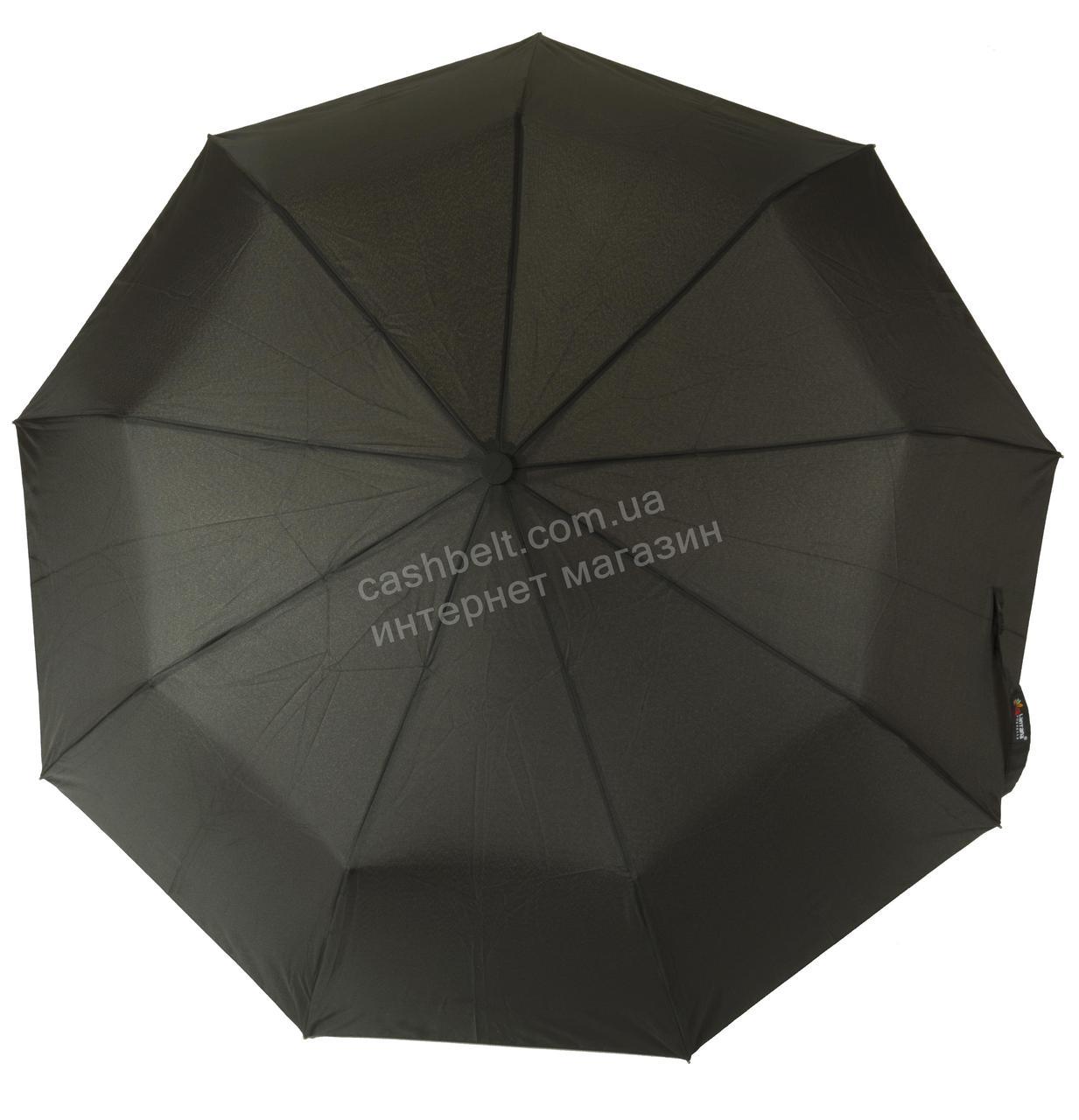 Мужской прочный зонт полуавтомат классический черный цвет LANTANA art. 670 черный (100171)