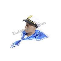 Морской воротник и кепка моряка, комплект