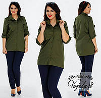 Женская Стильная Рубашка (KL028/Khaki)