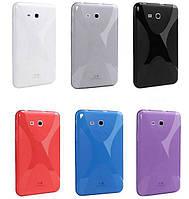 TPU чехол Duotone на Samsung Galaxy Tab 3 Lite Plus (6 цветов)