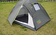 Двухместная туристическая палатка Green Camp 1001  с тамбуром.