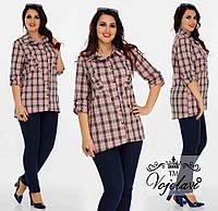 Женская Стильная Рубашка (KL032/Pink)