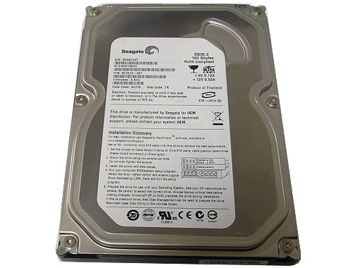 Жёсткий диск 160Gb Seagate 7200 rpm (ST3160215ACE) IDE