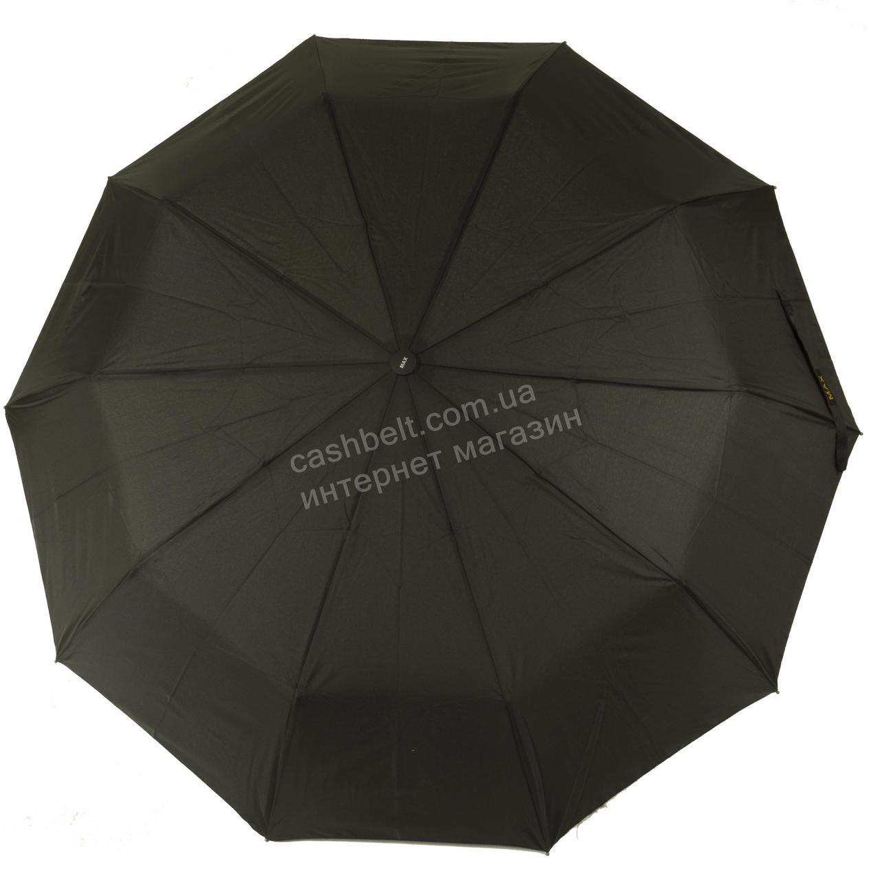 Мужской прочный зонт полуавтомат классический черный цвет MAX KOMFORT art. 109 черный (100146)