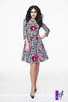 Расклешенное платье с рукавом ЮГ 881009
