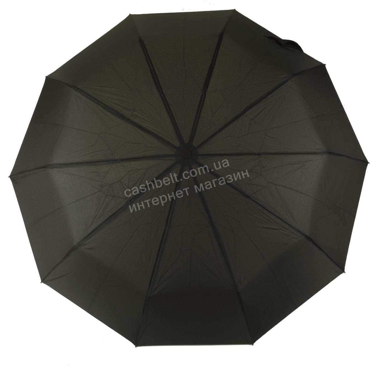 Мужской прочный зонт автомат классический черный цвет SUSINO art. 458 черный (100159)