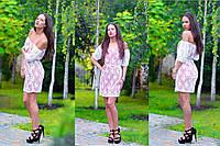 Летнее платье с резинкой на плечах ДГ №с88016