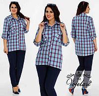 Женская Стильная Рубашка (KL032/Blue)