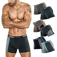 Мужские трусы боксеры стрейч Jujube 015 3XL 50-52. В упаковке 6 штук