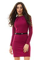 Платье по фигур с длинным рукавом  ИК 882078