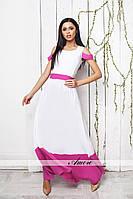 Белое платье  миди РР 8856