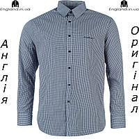 Рубашка мужская Pierre Cardin серая длинный рукав |Сорочка чоловіча сіра довгий рукав Pierre Cardin