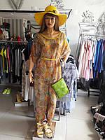 Женский дизайнерский костюм шифоновый брючный цветной