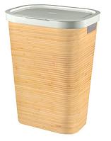 Пластиковая корзина для белья бамбуковая на 60 л INFINITY Curver 232118