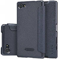 Кожаный чехол-книжка Nillkin Sparkle для Sony Xperia Z5 Compact черный