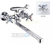 Смеситель ZEGOR двурукий для ванны T61-DFR-B ручки WSL722