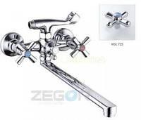 Смеситель ZEGOR двурукий для ванны T61-DFR-B ручки WSL725