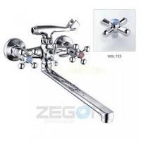 Смеситель ZEGOR двурукий для ванны T63-D4Q-A ручки WSL725