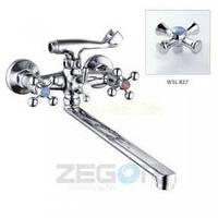 Смеситель ZEGOR двурукий для ванны T63-D4Q-A ручки WSL827