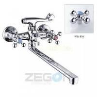 Смеситель ZEGOR двурукий для ванны T63-D4Q-A ручки WSL856