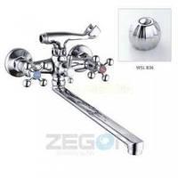 Смеситель ZEGOR двурукий для ванны T63-D4Q-A ручки WSL836