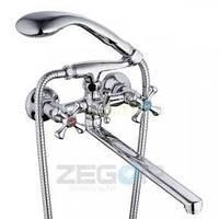 Смеситель ZEGOR двурукий для ванны T65-DFU-A ручки WSL827