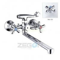 Смеситель ZEGOR двурукий для ванны T65-DST-A ручки WSL725