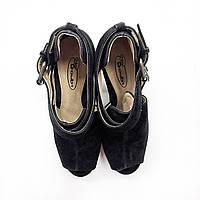 Черные женские босоножки на каблуке No doubt Размер 38
