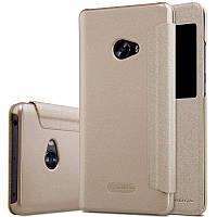 Кожаный чехол-книжка Nillkin Sparkle для Xiaomi Mi Note 2 золотой