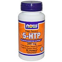 Now Foods, 5-гидрокситриптофан, 200 мг, 60 вегетарианских капсул