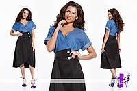 Двухцветное  летнее платье  ЮГ 881075
