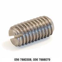 Винт установочный с засверленным концом и прямым шлицем ГОСТ 1479-93, ГОСТ Р 50386-92, DIN 438, ISO 7436